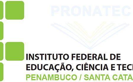 Pronatec 2016 – Vagas IF-PE e IF-SC