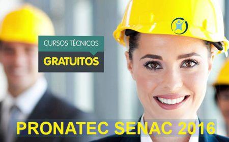 Pronatec Senac 2016