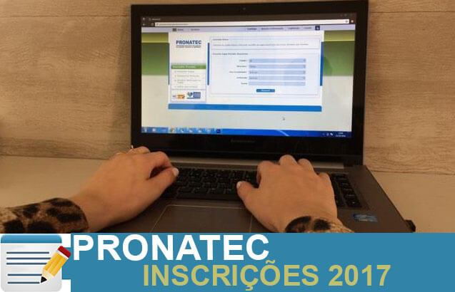 pronatec inscricoes 2017