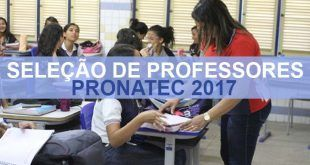 Concurso Para Professor do Pronatec 2017