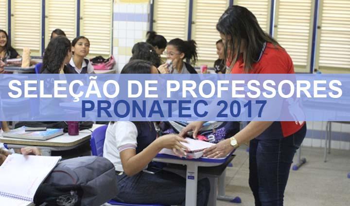 Concurso Para Professor do Pronatec 2017