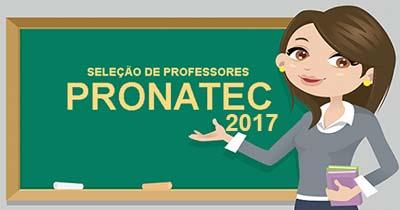 Seleção para Professor do Pronatec
