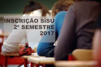 Inscrição SiSU 2017 2º semestre 2017