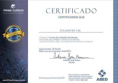 Certificado prime cursos