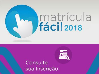 Inscrição Matrícula Fácil 2018