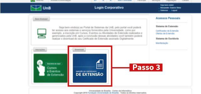 Emissão de Certificado de Extensão