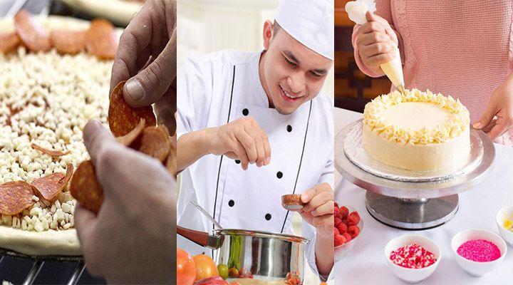 Cursos Gratuitos do Senac de Cozinheiro, Confeiteiro e Pizzaiolo