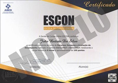 Inscrições ESCON Cursos Online com Certificado 2018