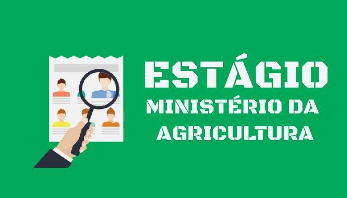 estágio no ministério da agricultura inscreva-se