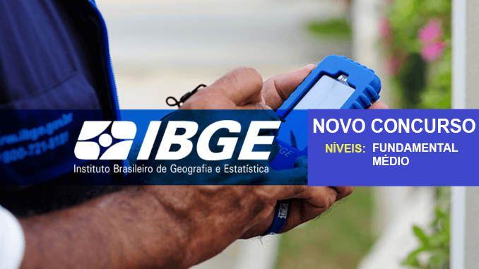 Concurso IBGE 2019 Para Temporários - Edital