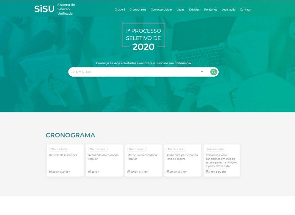 Começaram as Inscrições do Sisu 2020