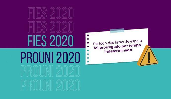 Lista de Espera Fies e Prouni 2020 são prorrogadas pelo MEC