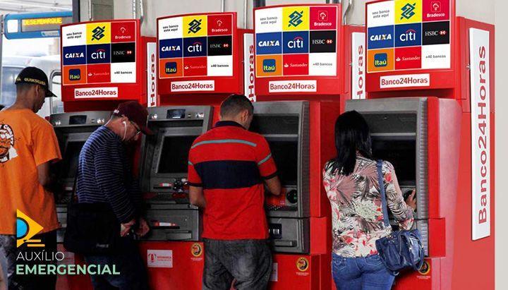 Auxílio Emergencial pode ser sacado no Banco24Horas?
