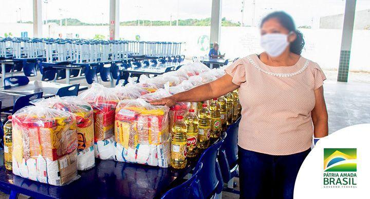 Prefeitura GARANTE 58 mil Kits Alimentação em julho