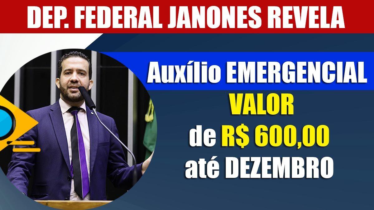 André Janones revela Auxílio com VALOR de R$ 600,00 até DEZEMBRO