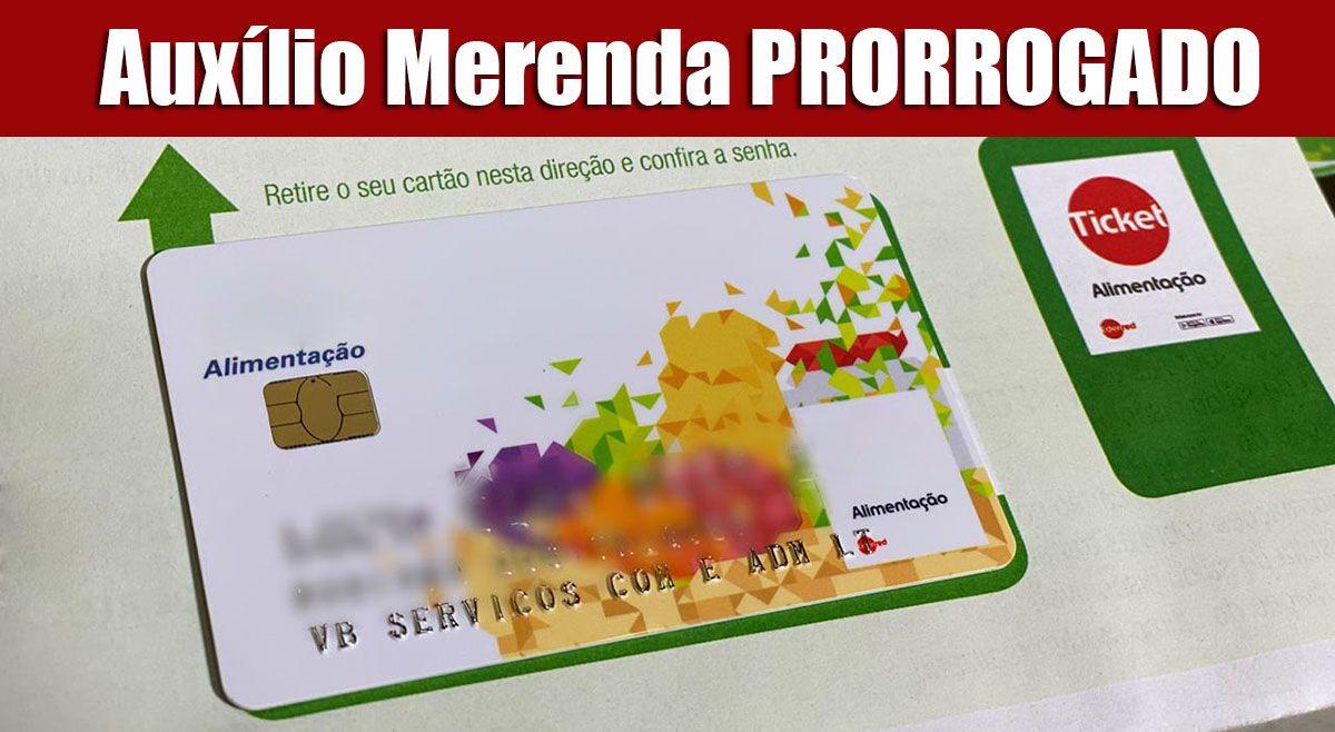 Auxílio Merenda PRORROGADO! Saque a partir do dia 7 de SETEMBRO