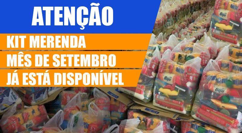 Kit MERENDA disponível para RETIRADA em SETEMBRO