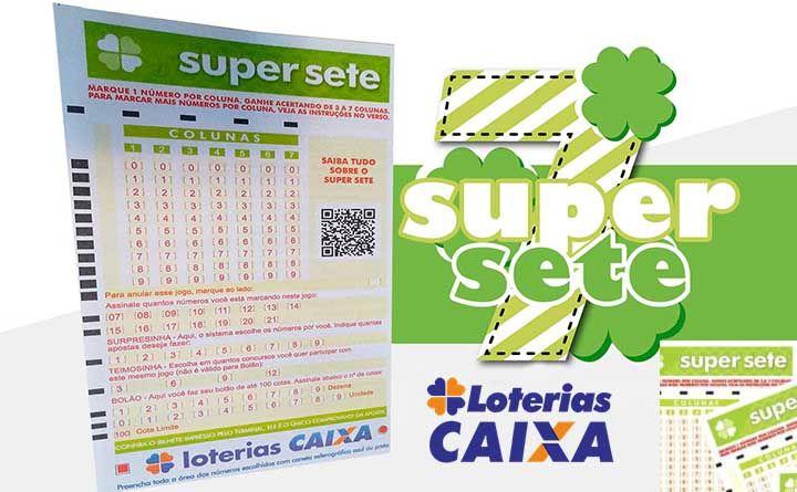 SUPER SETE CAIXA Resultado números sorteados