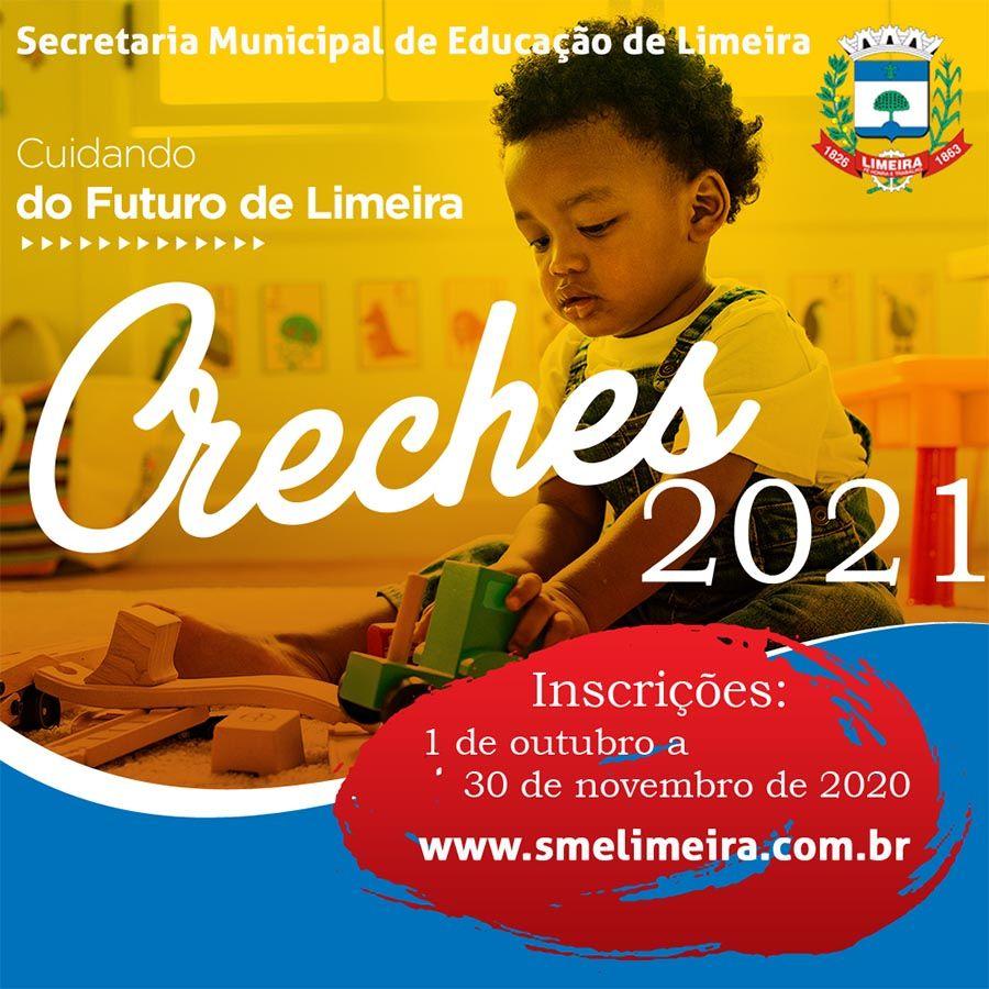 inscrição online em vagas de creches em Limeira