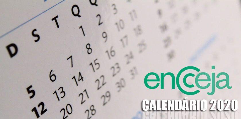 Calendário do ENCCEJA 2020