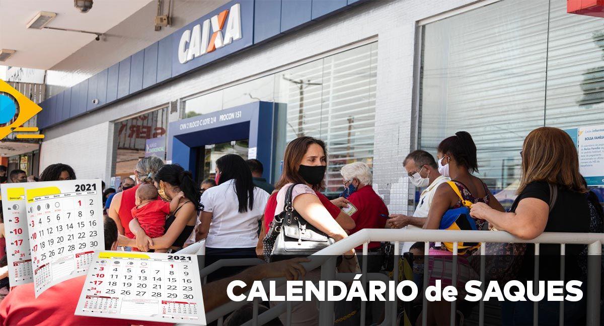 DIVULGADO! CALENDÁRIO de SAQUES do Auxílio Emergencial em 2021
