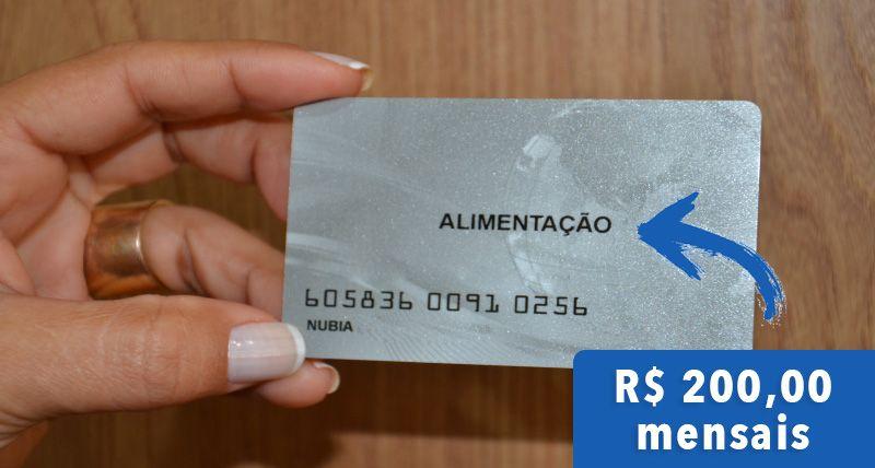 APROVADO CARTÃO ALIMENTAÇÃO com VALOR de R$ 200,00