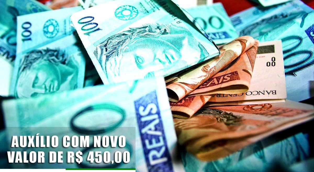 Auxílio com NOVO VALOR de R$ 450,00 ESTÁ CONFIRMADO