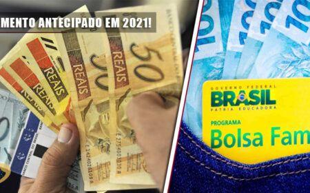 PAGAMENTO ANTECIPADO em 2021! 13º para APOSENTADOS do INSS e ABONO SALARIAL: BOLSA FAMÍLIA entre R$190 e R$300…