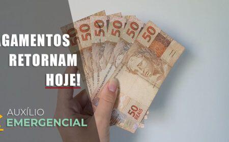 APÓS PAUSA! PAGAMENTOS do Auxílio de R$ 300,00 retornam HOJE: Caixa CONFIRMA NOVA RODADA de PAGAMENTOS…