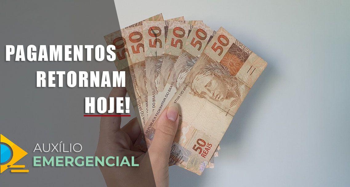 PAGAMENTOS do Auxílio de R$ 300,00 retornam HOJE
