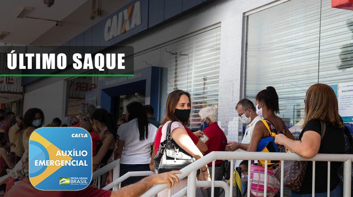 ÚLTIMO SAQUE do Auxílio de R$ 300,00 em JANEIRO