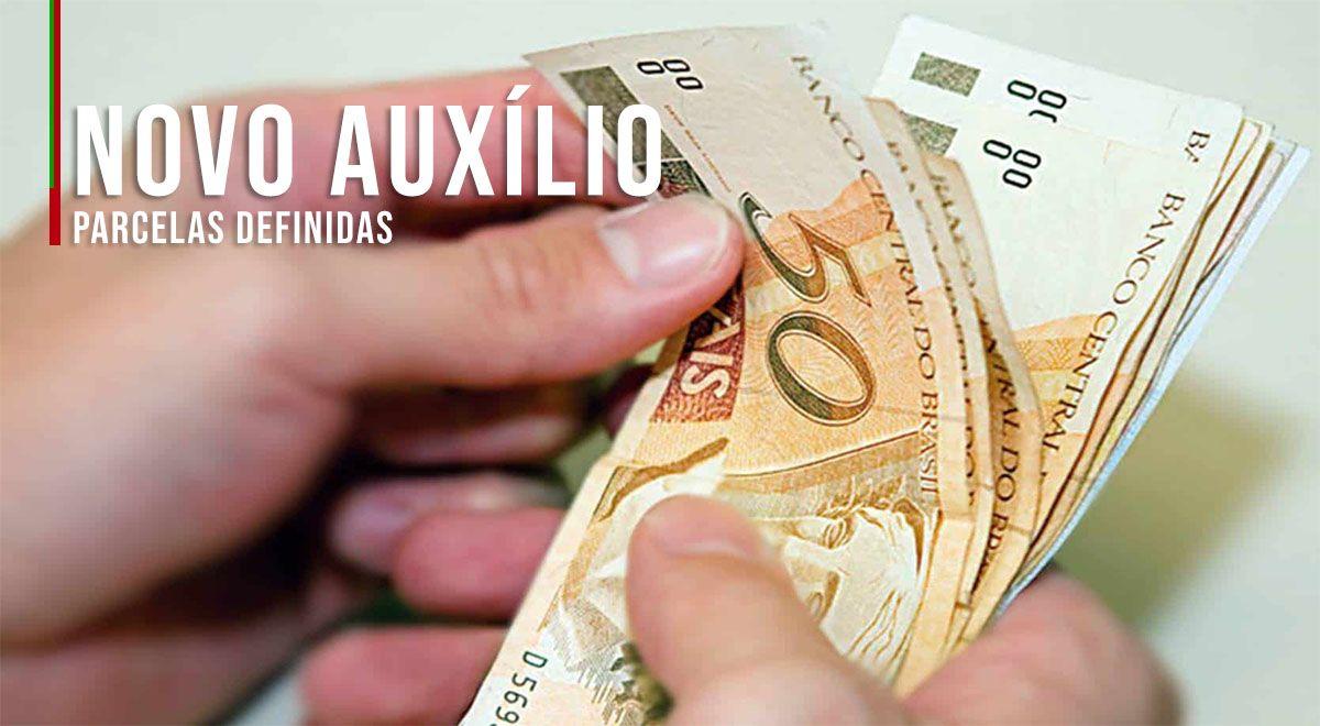 Parcelas do NOVO AUXÍLIO DEFINIDAS no VALOR de R$200