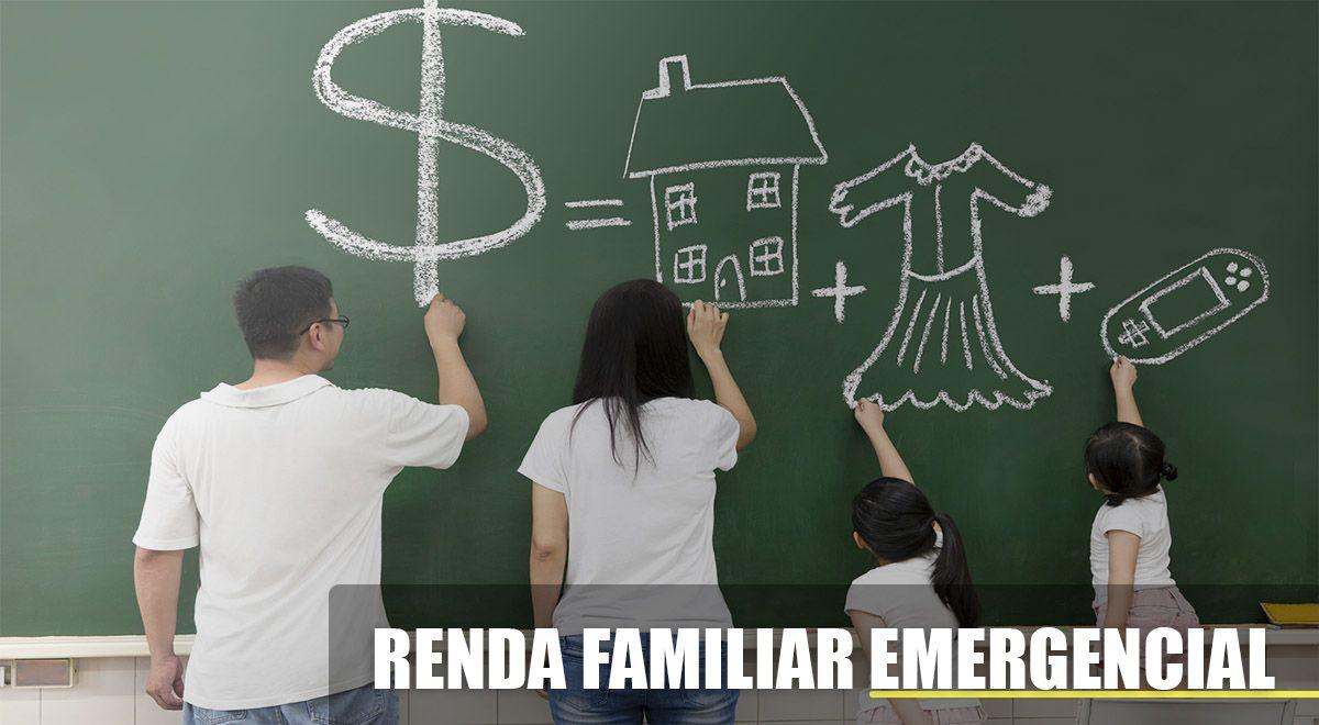RENDA FAMILIAR EMERGENCIAL de R$ 300,00 por 6 MESES