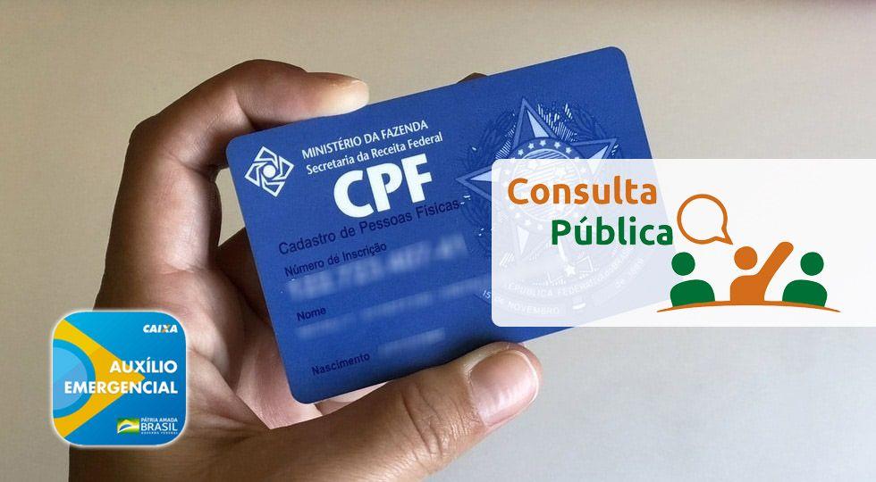 CONSULTA PÚBLICA Auxílio Emergencial pelo CPF