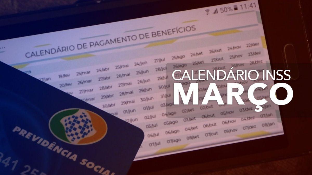 Calendário do INSS 2021 1ª SEMANA de MARÇO