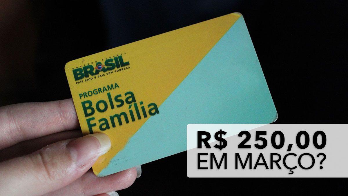 INSCRITOS no BOLSA FAMÍLIA vão RECEBER o Auxílio de R$ 250,00 em MARÇO?