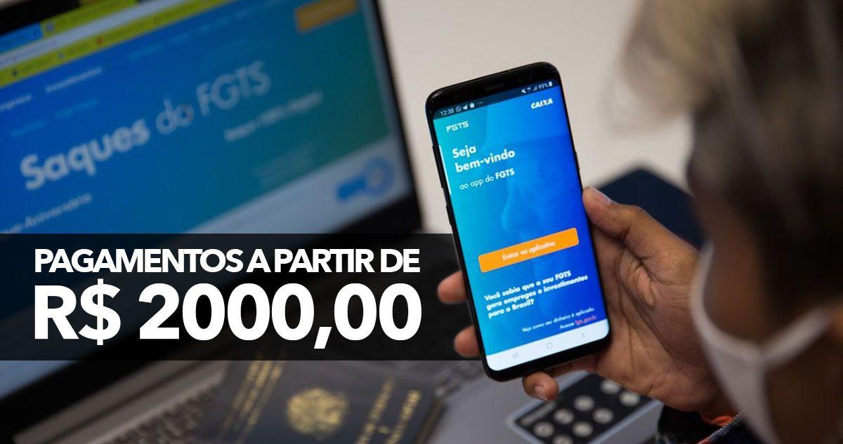 ANTECIPAÇÃO do FGTS garante PAGAMENTO a partir de R$ 2.000