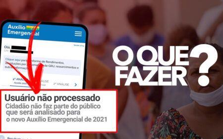 Cidadão não faz parte do público que será analisado para o Auxílio Emergencial 2021 – Como RESOLVER…