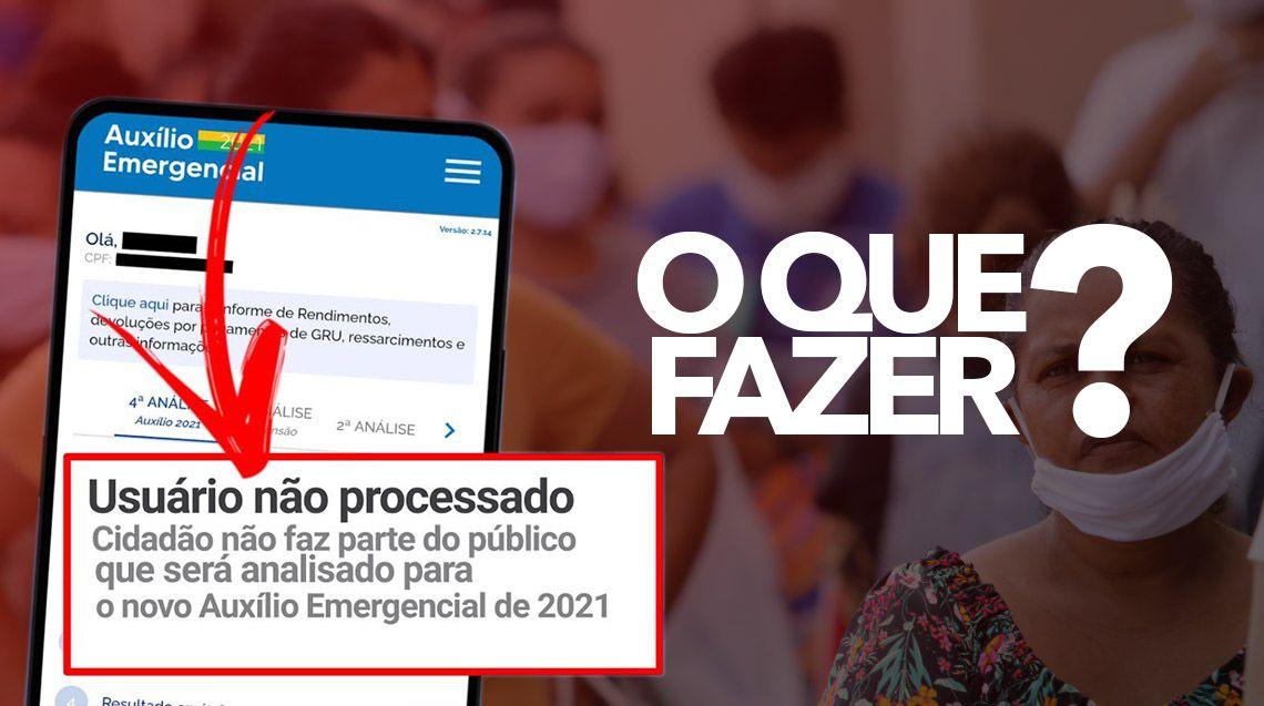 Cidadão não faz parte do público que será analisado para o Auxílio Emergencial 202
