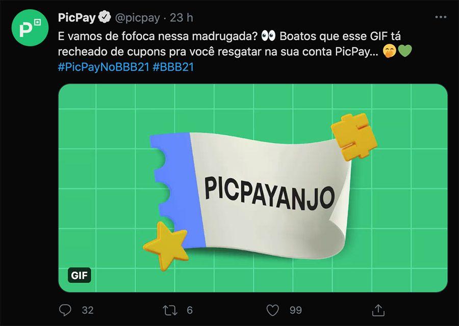 Cupom PicPay BBB - Descontos disponíveis