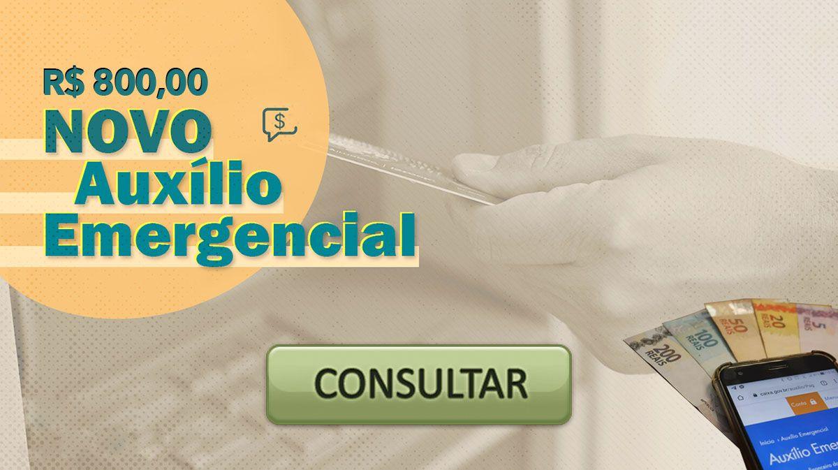 Aberta consulta do Auxílio de R$ 800,00