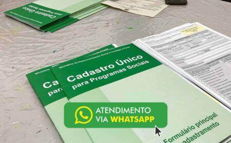 Cadastro Único cria canal de atendimento pelo WhatsApp: Atendimento pode ser presencial através de agendamento…