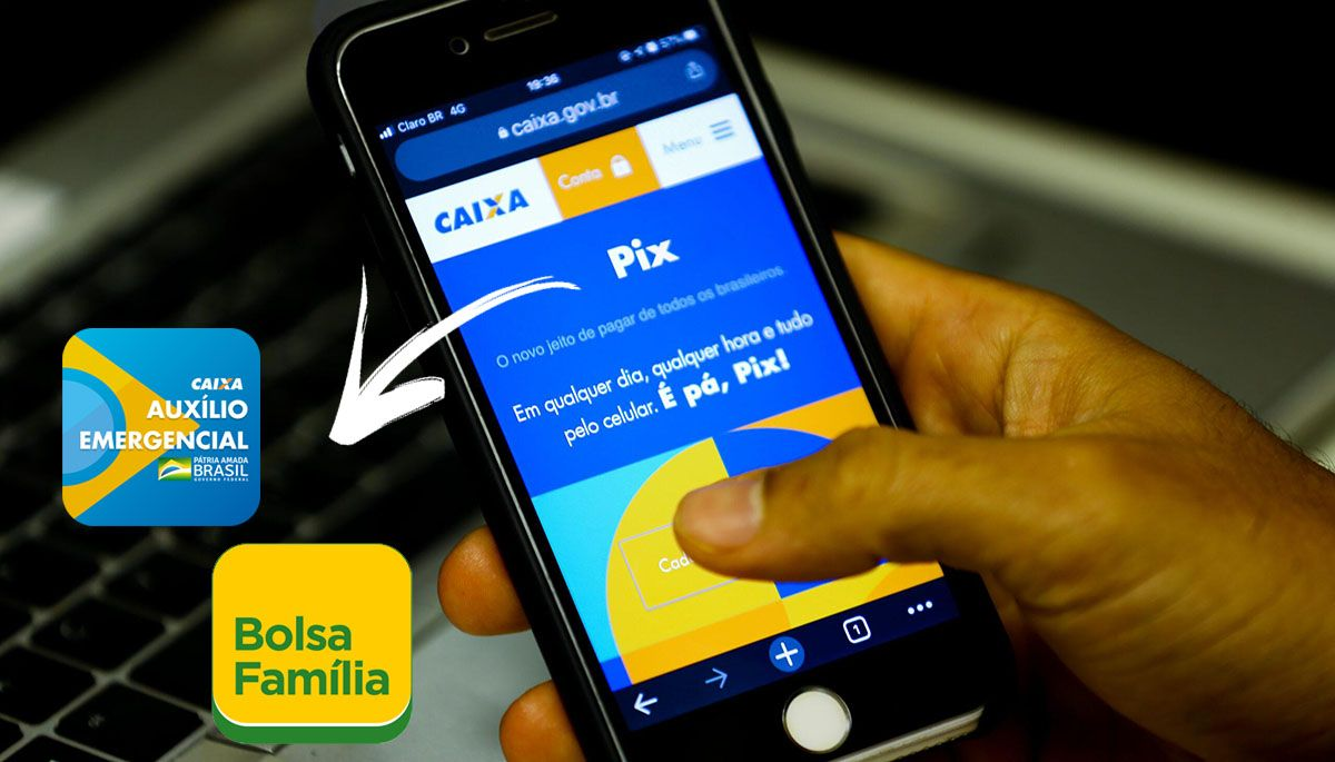 Como transferir o pagamento do Auxílio Emergencial e Bolsa Família através do Pix