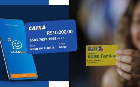 Inscritos no Bolsa Família podem ganhar cartões pré-pago com saldo de R$ 10 mil através do Caixa Tem