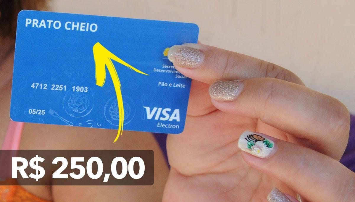 Milhares de Famílias vão receber o Cartão Prato Cheio de R$ 250