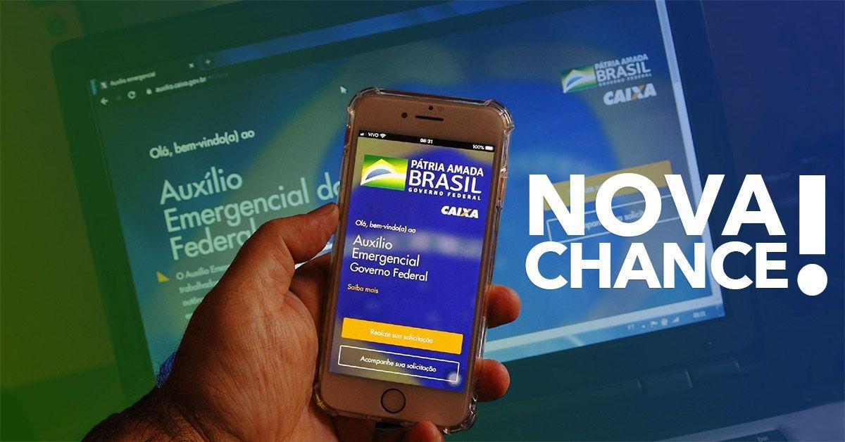 NOVA CHANCE! Veja como SOLICITAR o Auxílio Emergencial em MAIO