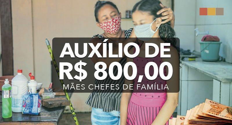 Pagamento do Auxílio de R$ 800,00 começa a partir do dia 17-05