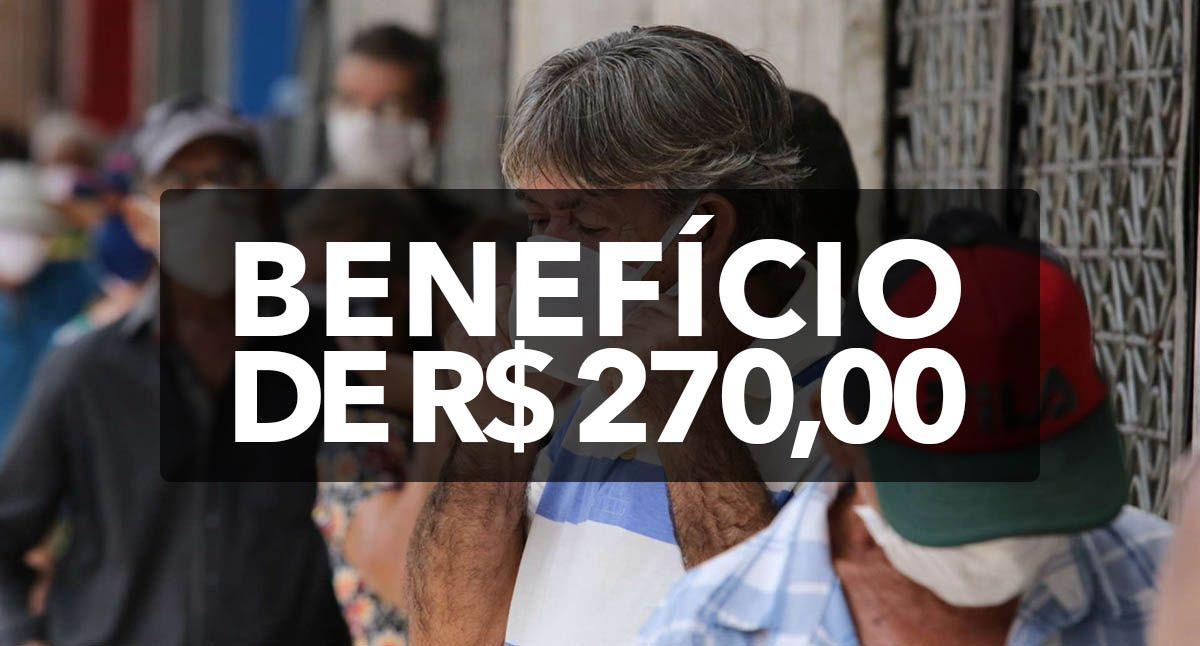 Prefeitura divulga datas e inicia pagamento de benefício com valor de R$ 270,00