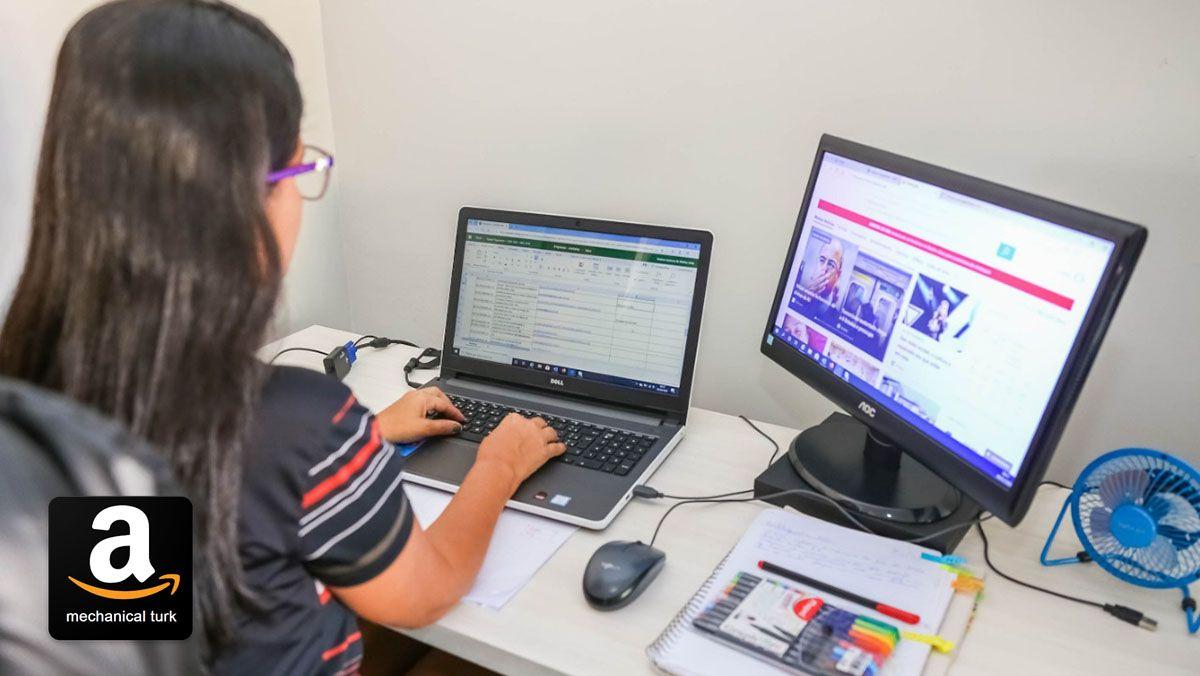 Site MTurk paga até R$ 1490,00 por semana digitando formulários