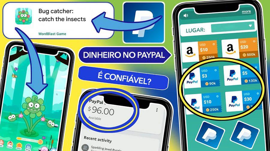 Aplicativo Bug Catcher paga em Dólar via PayPal